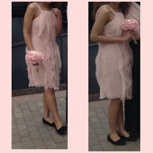 Vera Wang Blush Chiffon Bridesmaid Dress